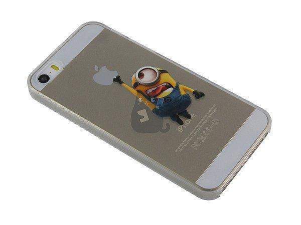 Capa Iphone 5/S Minion Pegando Maçã
