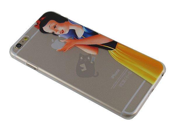 Capa Iphone 6 Plus Branca de Neve Segurando Maçã