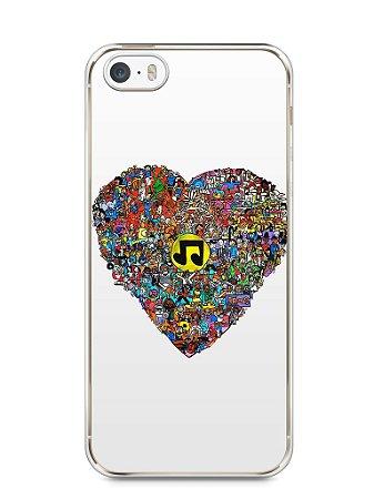 Capa Iphone 5/S Coração Personagens