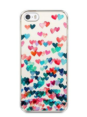 Capa Iphone 5/S Corações Coloridos