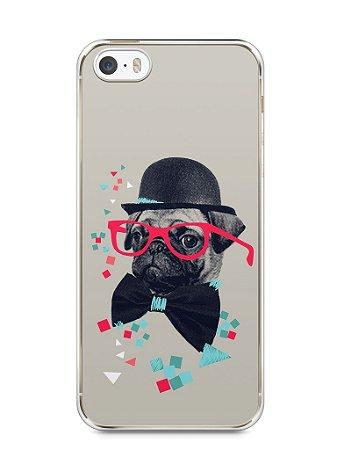 Capa Iphone 5/S Cachorro Pug Estiloso #1