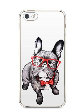 Capa Iphone 5/S Cachorro Bulldog Francês Estiloso
