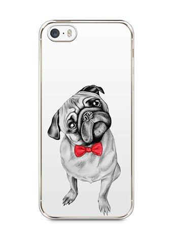 Capa Iphone 5/S Cachorro Pug Estiloso #2