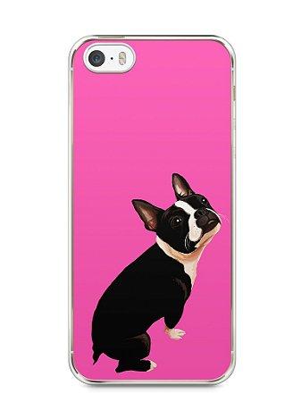 Capa Iphone 5/S Cachorro Boston Terrier