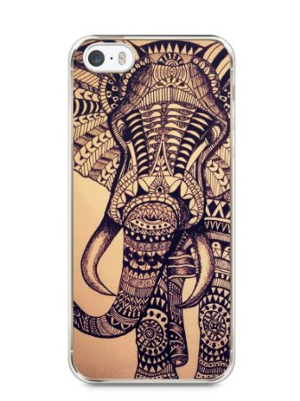 Capa Iphone 5/S Elefante Tribal