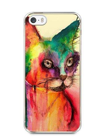 Capa Iphone 5/S Gato Pintura