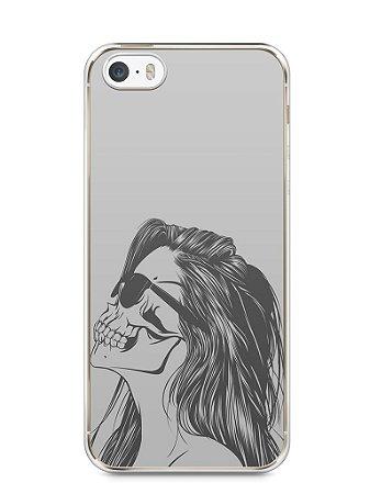 Capa Iphone 5/S Mulher Caveira