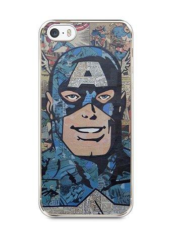 Capa Iphone 5/S Capitão América Comic Books #2