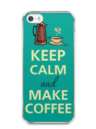 Capa Iphone 5/S Keep Calm and Make Coffee