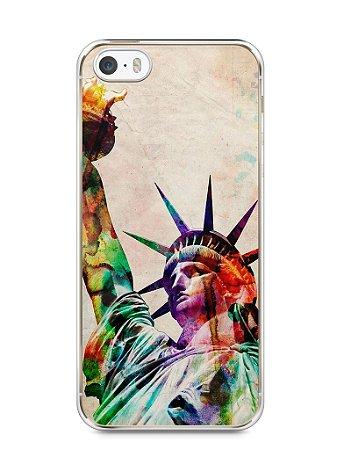 Capa Iphone 5/S Estátua da Liberdade Colorida