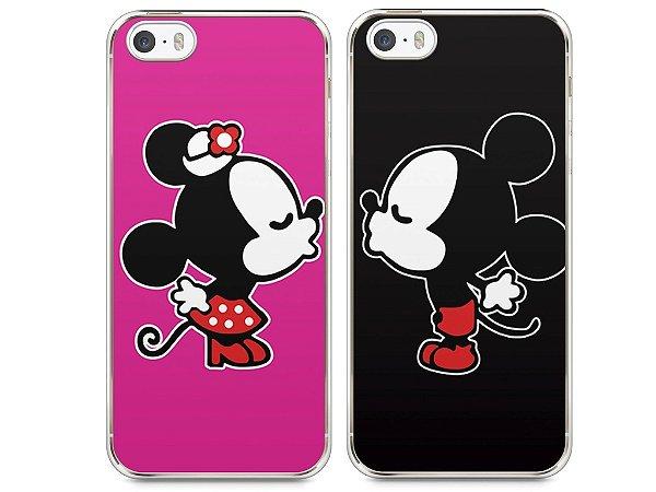 Capa Iphone 5/S Mickey e Minnie Beijo
