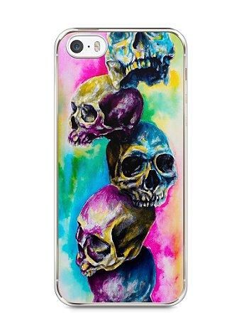 Capa Iphone 5/S Caveiras Coloridas Pintura