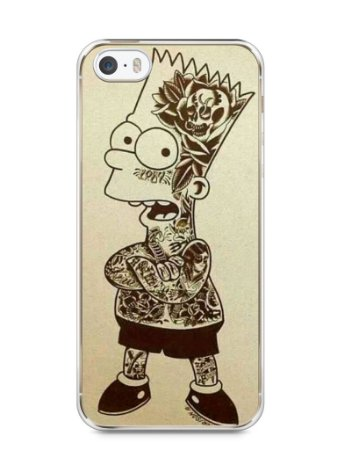 Capa Iphone 5/S Bart Simpson Tatuado