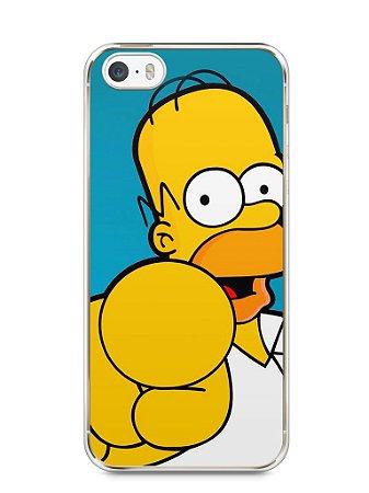 """Capa Iphone 5/S Homer Simpson """"Escolho Você"""""""