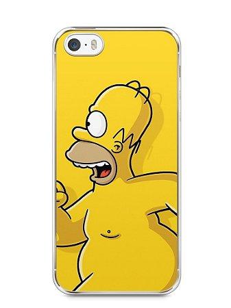 Capa Iphone 5/S Homer Simpson Correndo Pelado