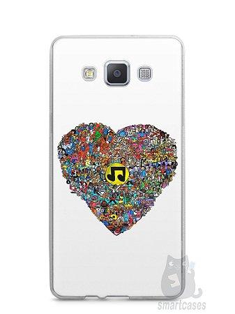 Capa Samsung A5 Coração Personagens