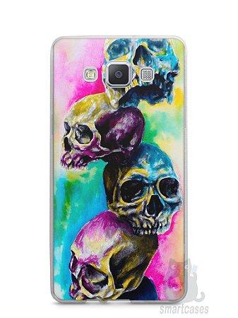 Capa Samsung A5 Caveiras Coloridas Pintura