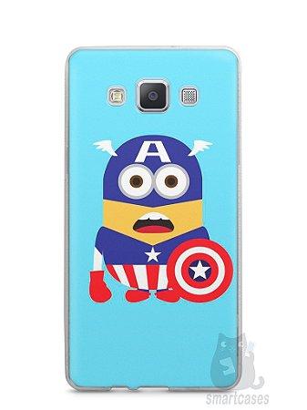 Capa Samsung A5 Minions Capitão América