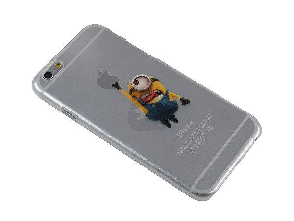 Capa Iphone 6 Minion Pegando Maçã