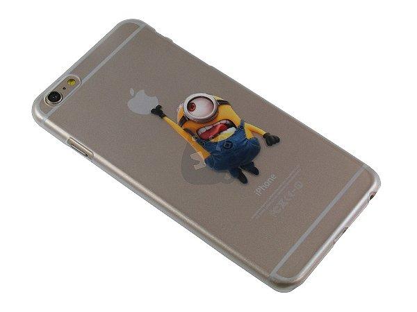 Capa Iphone 6 Plus Minion Pegando Maçã