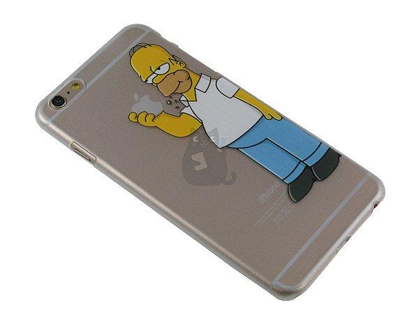 Capa Iphone 6 Plus Homer Simpson Comendo Maçã