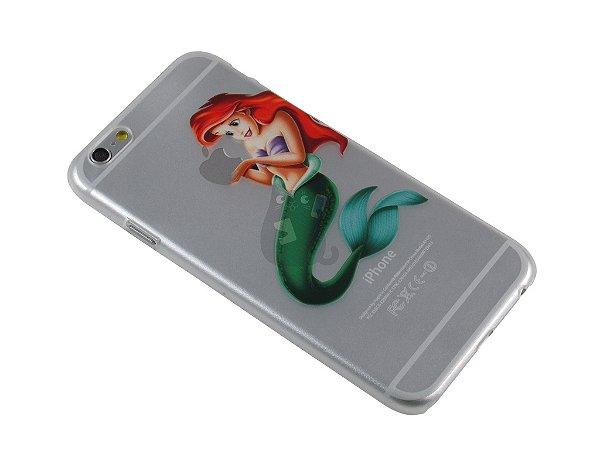 Capa Iphone 6 Pequena Sereia Segurando Maçã