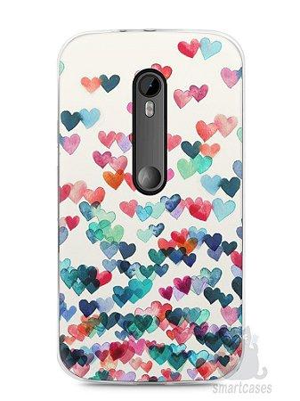 Capa Moto G3 Corações Coloridos