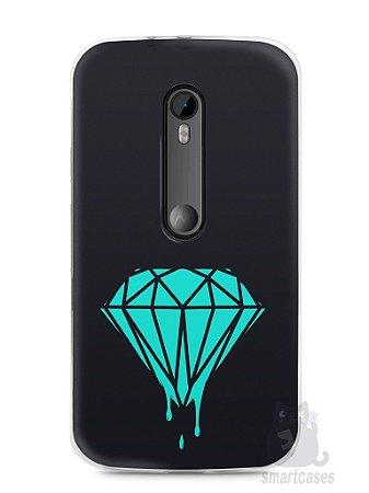 Capa Moto G3 Diamante Azul