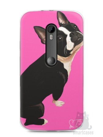 Capa Moto G3 Cachorro Boston Terrier