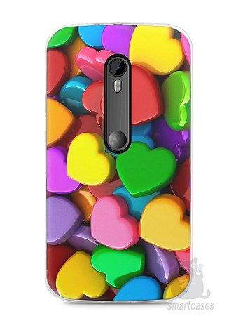 Capa Moto G3 Corações
