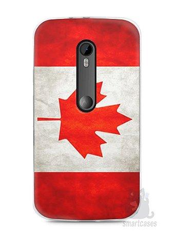 Capa Moto G3 Bandeira do Canadá