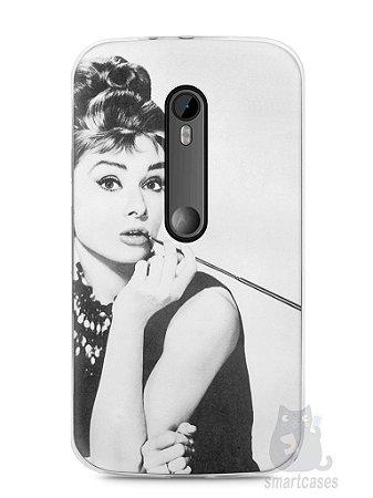 Capa Moto G3 Audrey Hepburn #1