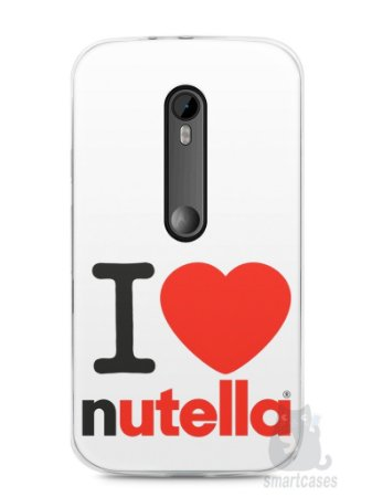 Capa Moto G3 I Love Nutella