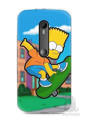 Capa Moto G3 Bart Simpson Skate