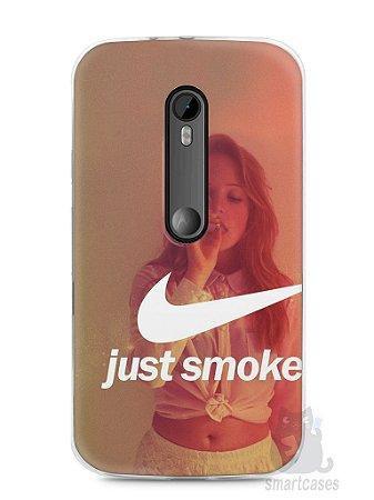 Capa Moto G3 Just Smoke It