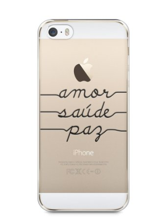 Capa Iphone 5/S Amor Saúde Paz