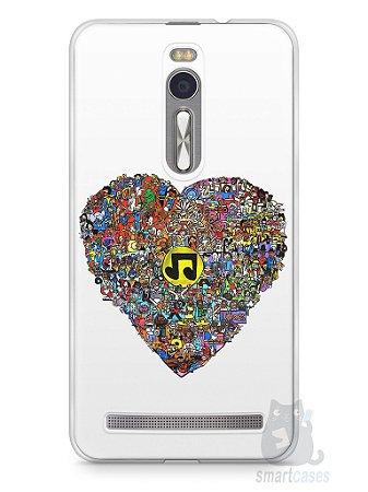 Capa Zenfone 2 Coração Personagens