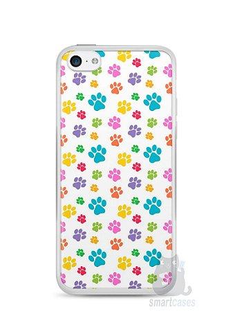 Capa Iphone 5C Patinhas Coloridas #1