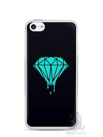 Capa Iphone 5C Diamante Azul