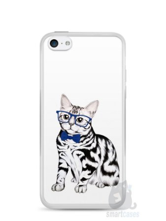 Capa Iphone 5C Gato Estiloso