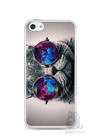 Capa Iphone 5C Gato Galáxia #1