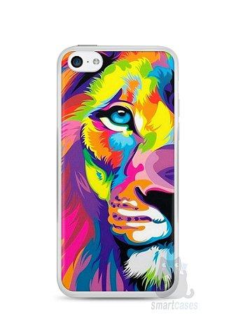 Capa Iphone 5C Leão Colorido #1