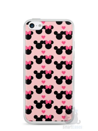 Capa Iphone 5C Mickey e Minnie