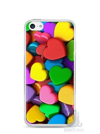 Capa Iphone 5C Corações