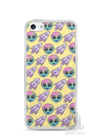 Capa Iphone 5C Aliens e Foguetes