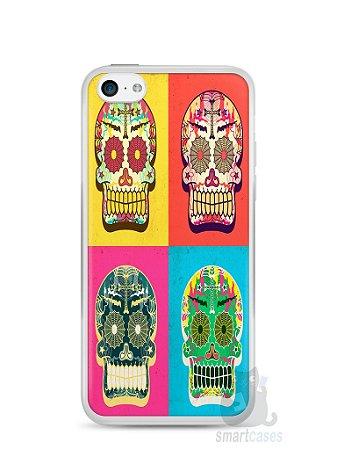 Capa Iphone 5C Caveiras Coloridas