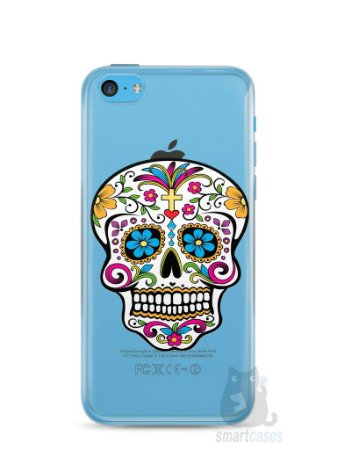 Capa Iphone 5C Caveira Mexicana