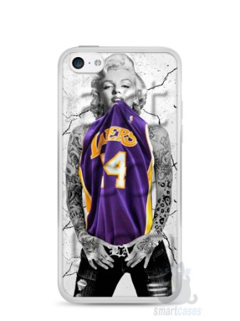 Capa Iphone 5C Marilyn Monroe Lakers