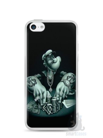 Capa Iphone 5C Popeye Jogando Poker