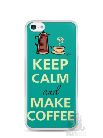 Capa Iphone 5C Keep Calm and Make Coffee